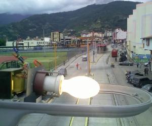 Trolebús Mérida restituyó alumbrado público en calle 26 del centro